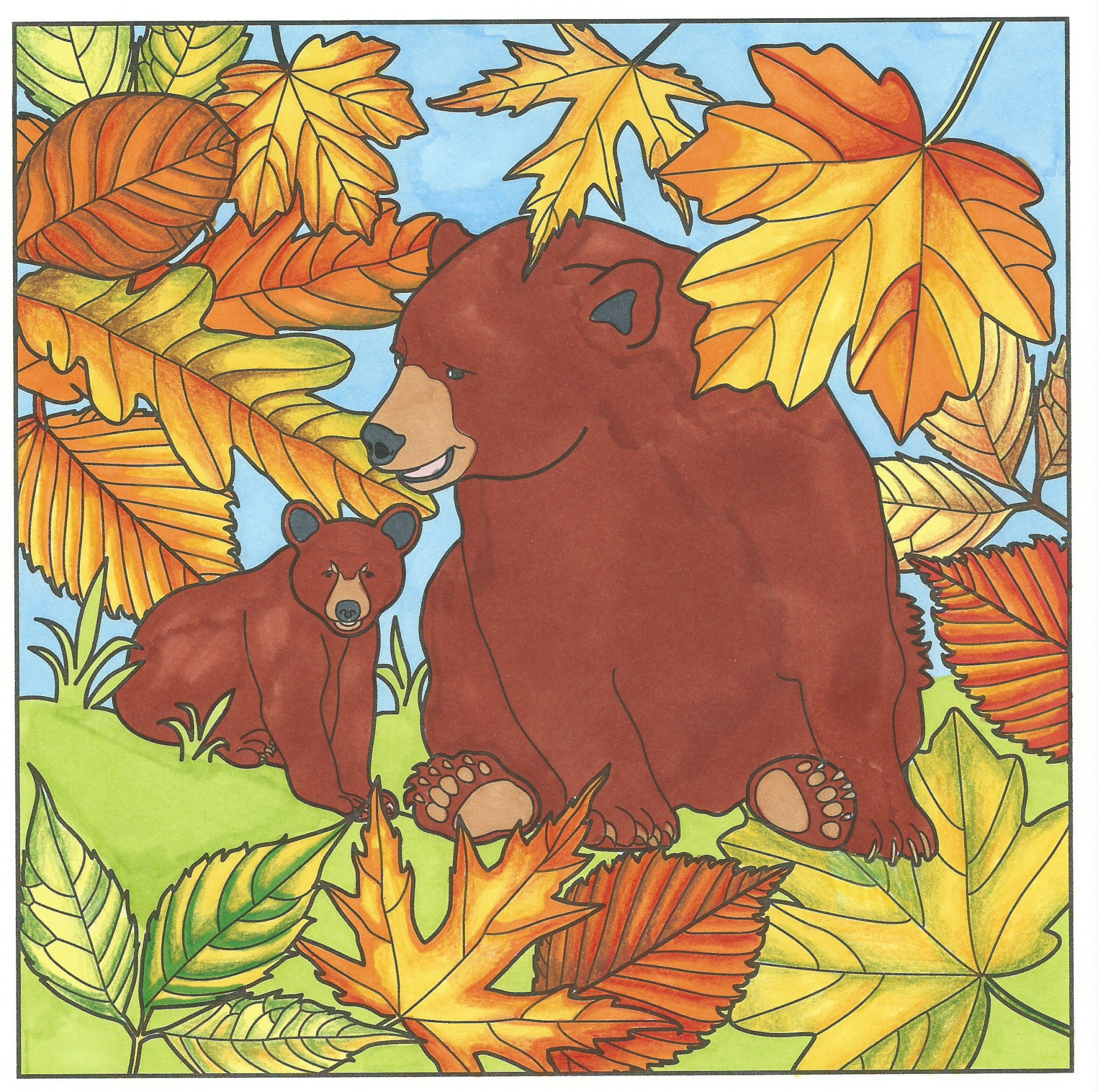 Bears in Autumn